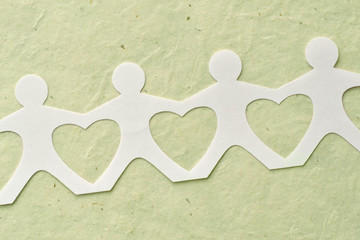 People paper chain - Love and ecology concept