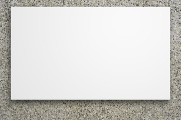 Weiße Vorlage für einen Poster