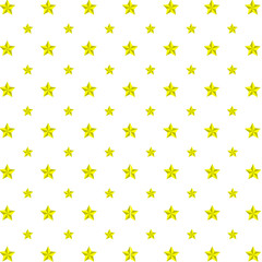 wallpaper seamless pattern with yellow stars - vector illustration