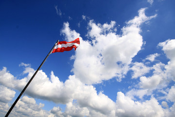 austrian flag and wind