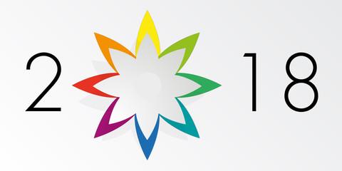 2018 - carte de vœux - design - entreprise - graphique - élégante - étoile - couleur - chic - présentation