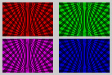 Rays - abstract striped background - vector set