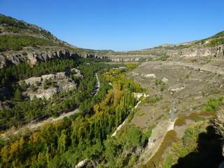 Naturaleza y paisajes de Cuenca,ciudad de Castilla la Mancha  en España declarada patrimonio de la Humanidad por la Unesco