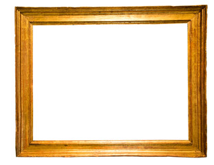 rectangular frame for a mirror on isolated background