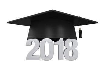 2018 Graduation Cap Isolated