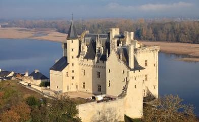 Fotorolgordijn Kasteel Château de Montsoreau, Château de la Loire