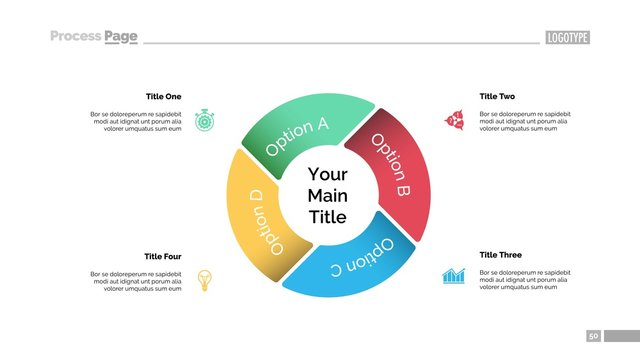 Pie Chart with Four Elements Template