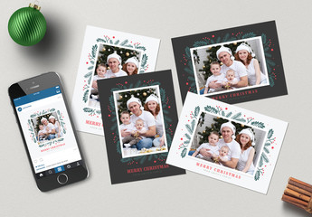 Set of Christmas Photo Greeting Cards 1