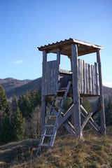 Hunting tower on the top of the hill