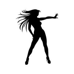 woman dance silhouette