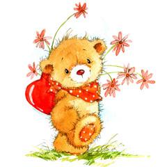 cute teddy bear for Valentine's Day