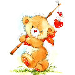 cute teddy bear for Valentine's Day