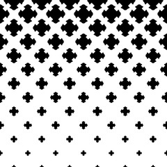 Vector halftone pattern, gradient transition effect, falling carved crosses