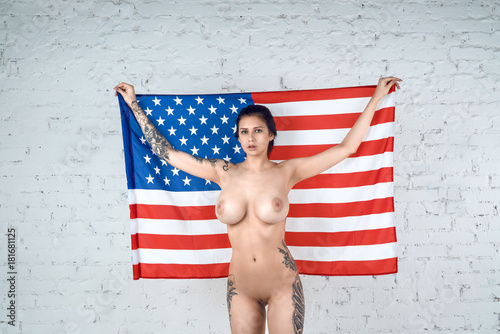 Girls in flag Nude usa
