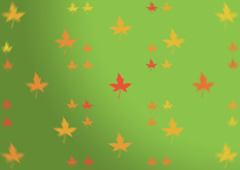 Autumn abstract orange red yellow golden maple leaves Thanksgivi