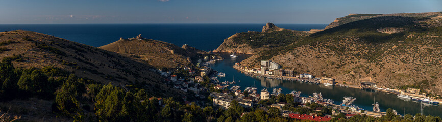Beauty nature sea landscape Crimea ( Balaklava; Sevastopol)