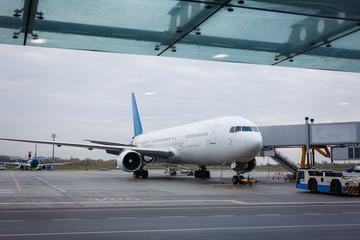 passenger plane, airport