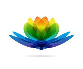 Lotus multicolored logo