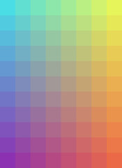 Rainbow checkered background
