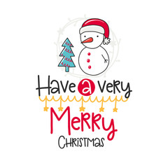 Christmas vector poster