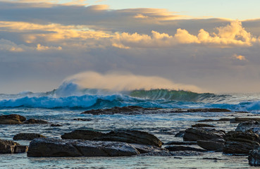 Early Morning Seascape with Waves