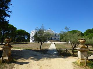 Palacio El Acebrón  en medio de Doñana junto a El Rocío, Andalucía (España)
