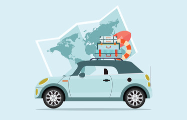 Planning summer vacations Travel by car.