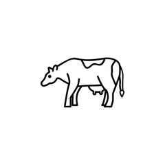 Cow web line icon
