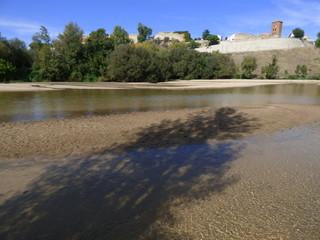 Escalona, pueblo de Toledo ( Castilla la Mancha, España) Fotografia aerea con drone