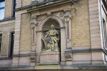 Statue of Church of old town of Heidelberg at Heidelberg, Germany