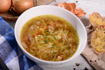 Homemade onion soup