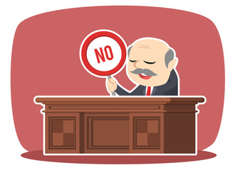 boss with no sign