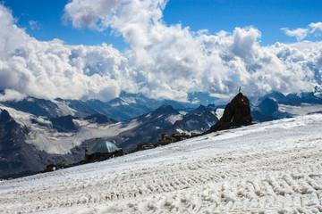 View at Refuge of 11, Elbrus, Caucasus, Russia