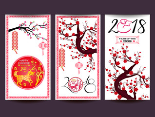 Happy  Chinese New Year  2018 year of the dog
