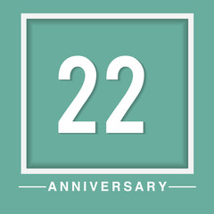 22 anniversary template design