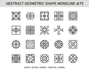 Geometric elements set, Modern shapes, isolated on white, line design, vector illustration