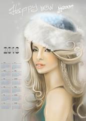 Снегурочка календарь 2018