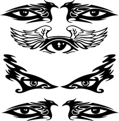 Tribal Tattoo Designs Eyes 2 pattern