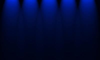 lights lit on a blue background
