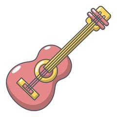Guitar icon, cartoon style