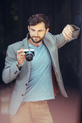 Male photographer with camera