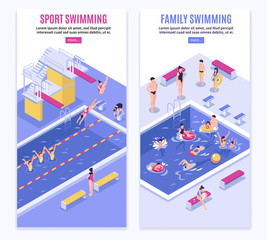Sport Swimming Vertical Banners