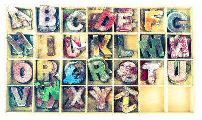 old wooden  letters Backround image
