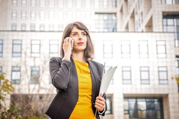 Beautiful business woman emotions