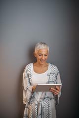 Managing her home finances