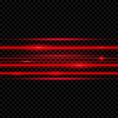 Abstract  laser beams. Isolated on transparent black background. Vector illustration, eps 10