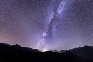 Beautiful Milky Way in Jomsom  Muktinath  Annapurna Circuit trek in Nepal