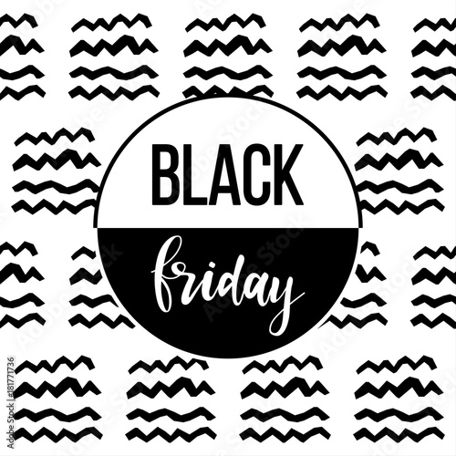Black Friday Sale Event Theme Abstract Black Friday Pattern