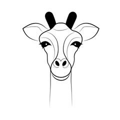 Giraffe. Outline. Vector illustration.