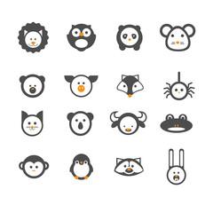 Animals set. Vector illustration.